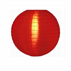 Luminária Oriental Vermelha Nylon - 35 cm