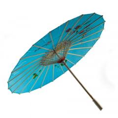 Sombrinha Oriental Azul - 83 cm x 54 cm