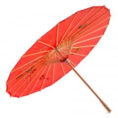 Sombrinha Oriental Vermelha - 83 cm x 54 cm
