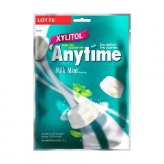 Bala Diet Anytime Sabor Leite e Menta  Milk Mint Lotte - 74 gramas