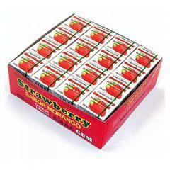 Chiclete Sabor Morango Marukawa Bubble Gum - 48 unidades