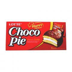 Choco Pie Bolinho de Chocolate Lotte 168 Gramas - 6 unidades