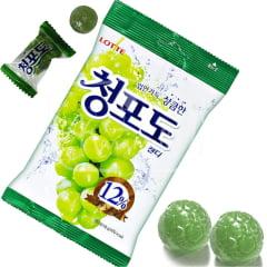 Bala Coreana Sabor Uva Verde Lotte - 153 gramas