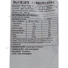 Bala de Leite Sabor Abacaxi Haoliyuan - 320 gramas