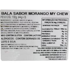 Bala Mastigável Macia Sabor Morango My Chew - 132 gramas