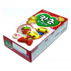 Biscoito com Recheio de Morango Kancho Lotte -50 gramas