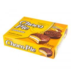 Choco Pie Bolinho de Chocolate e Banana Lotte  336 Gramas - 12 unidades