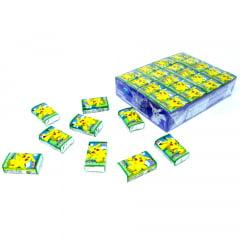 Caixa de Chiclete Japonês Pokémon Sabor Maça Verde - 60 unidades