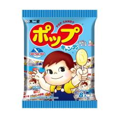 Pirulito de Leite Chinês Buerjia  Fujiya Sabor Iogurte - 46 gramas