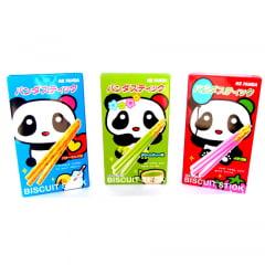 Kit Biscoito Palito Mr Panda - 3 Sabores