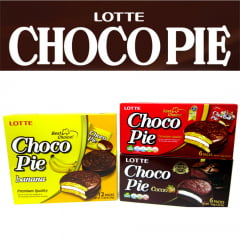KIT CHOCOPIE ALFAJOR BOLINHO DE CHOCOLATE E MARSHMALLOW LOTTE - 3 SABORES