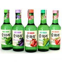 kit de Bebida Alcoólica Coreana Soju Chum Churum 5 Sabores - Hachi8