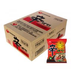 Caixa de Lamen Coreano Shin Ramyun Picante Carne e Legumes 100g - 20 Unidades