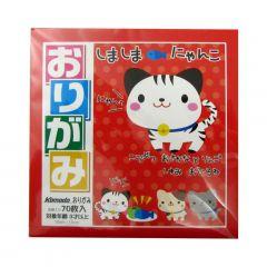 Papel Japonês Especial para Origami Grande Komoda com Cores Variadas - 70 unidades