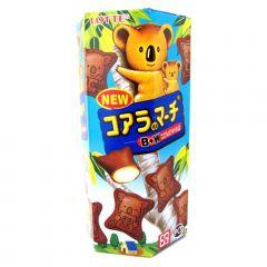 Biscoito de Chocolate Koala com Recheio de Chocolate Branco Lotte - 37 gramas