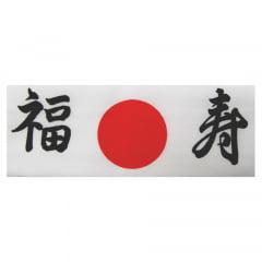 Faixa Japonesa Hachimaki para Sushiman Fukuju Felicidade e Longevidade - Branca