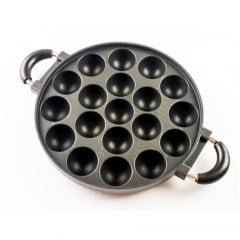 Forma Redonda de Ferro Antiaderente para Preparar Takoyaki - 28cm