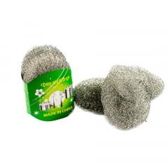 Kit Esponja de Lã Aço Cleaning Ball - 3 Peças