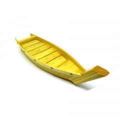 Barco para servir Sushi Sashimi de Madeira - 43cm