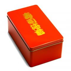 Caixa para Nori Alga Marinha Porta Nori Box Aço Inox - Laranja