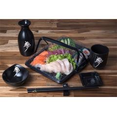 Embalagem Descartável Combinado 04 para Comida Japonesa - 100 unidades