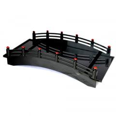 Ponte Para Servir Sushi Sashimi Preto - 43x22cmx11cm
