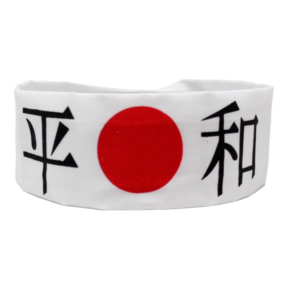Faixa Japonesa Hachimaki para Sushiman Heiwa PAZ - Branca