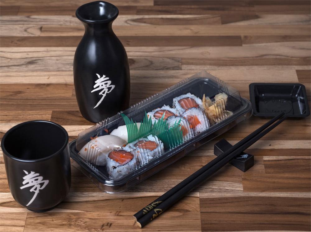 Embalagem Descartável Combinado 00 para Comida Japonesa - 200 unidades