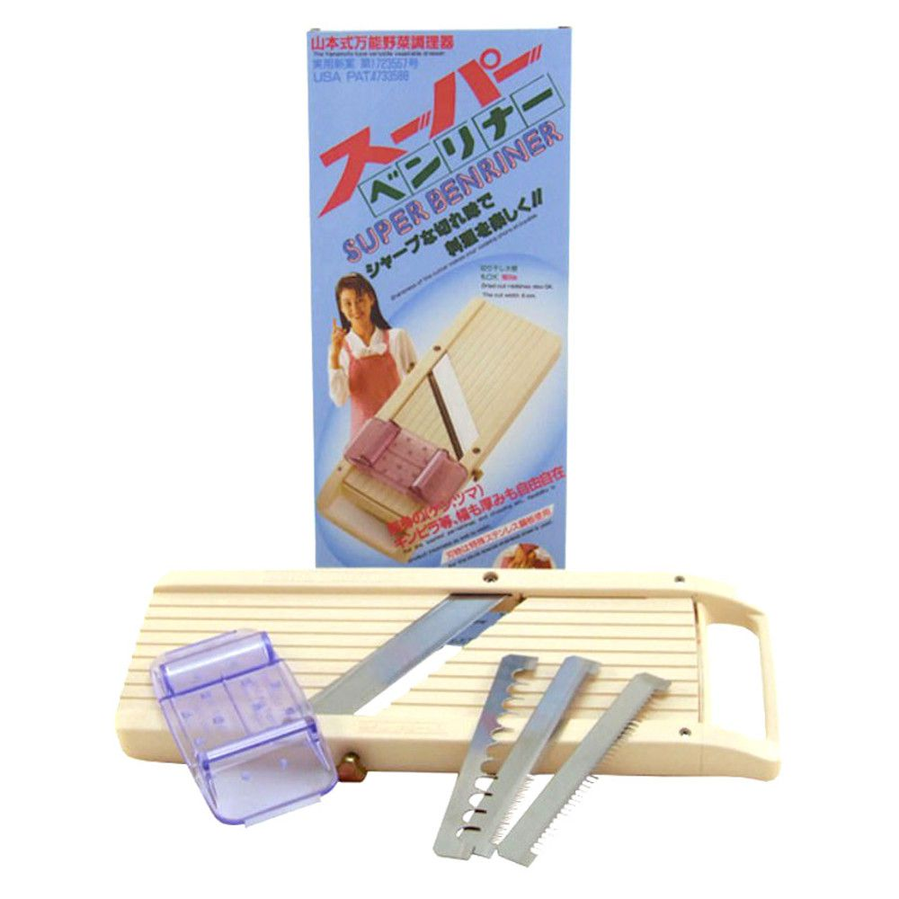Fatiador de Legumes Japonês Mandolin Super Benriner - com 3 Lâminas Trocáveis